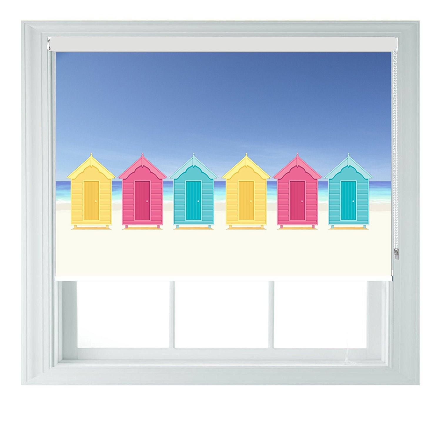 AOA Beach huts roller blinds