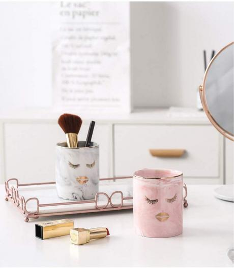 BEKVAMT Marble Makeup Brush Holder