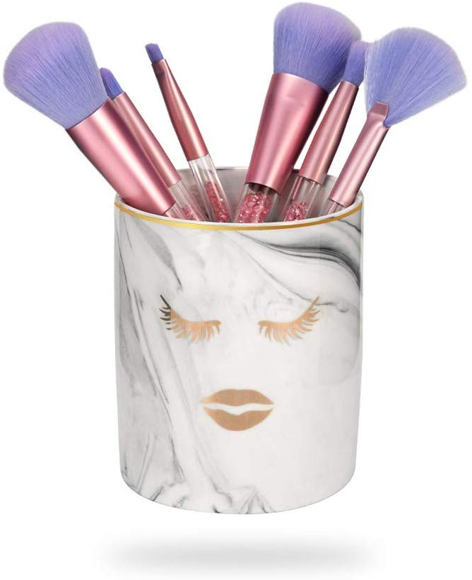 BEKVÄMT Marble Makeup Brush Holder