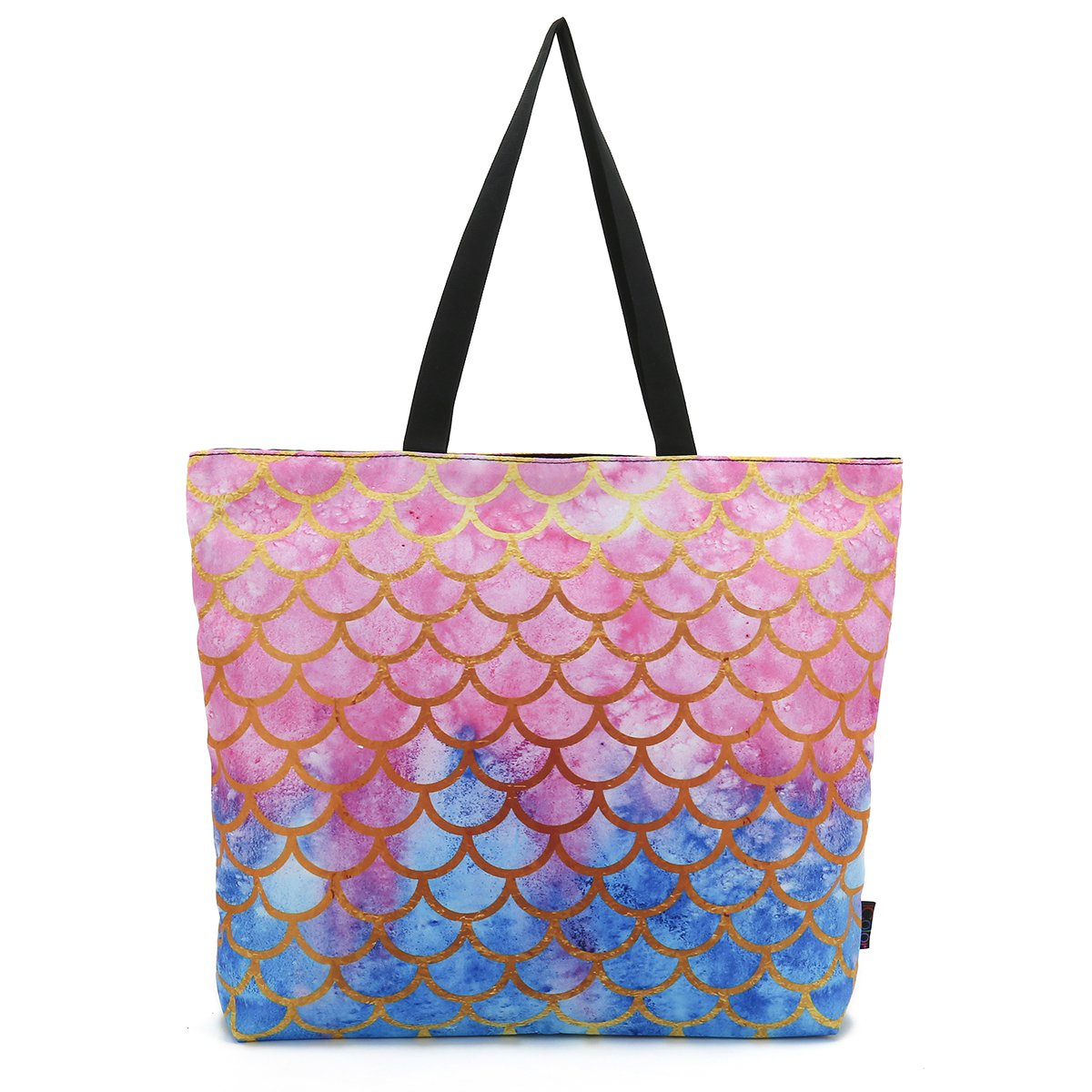 ICOLOR Mermaid Large Eco Reusable Eco-Friendly Shopping Bag