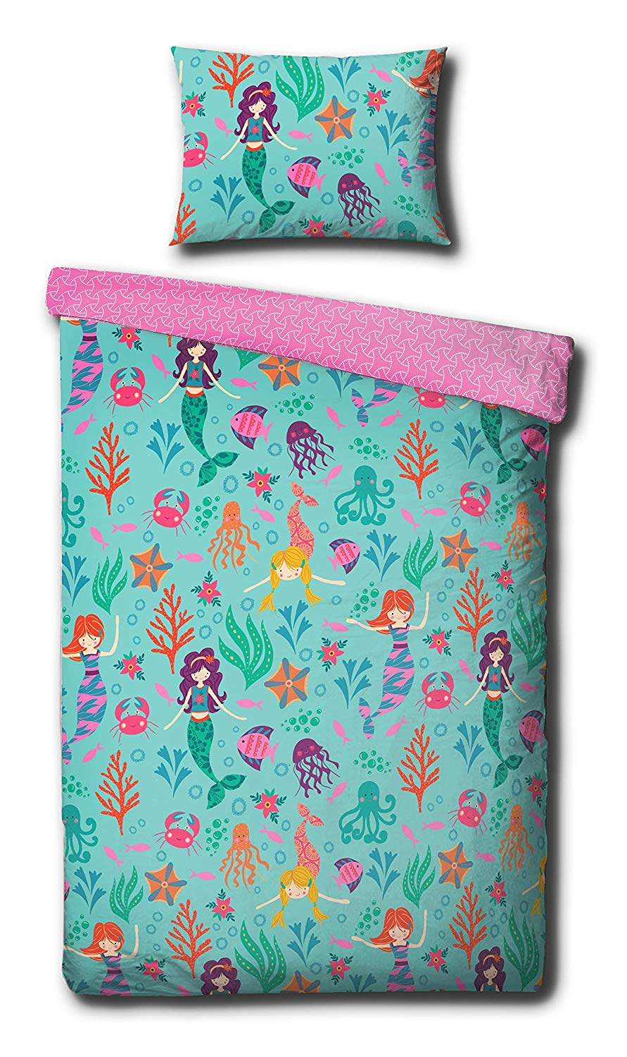 Junior Bedding Mermaid Single Duvet