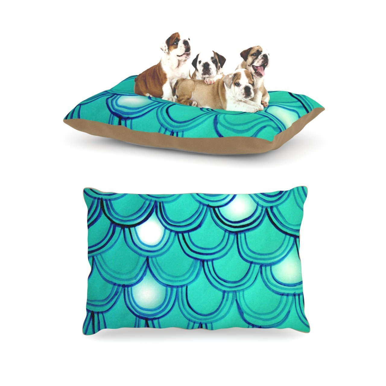 "Kess InHouse Theresa Giolzetti ""Mermaid Tail"" Dog Bed"