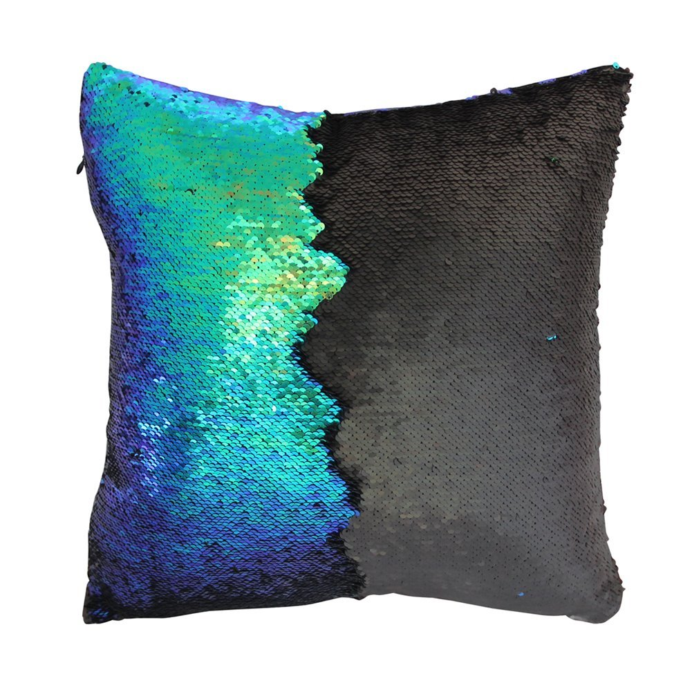 Back of play tailor mermaid scale cushion
