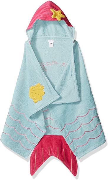 Mud Pie Baby Hooded Bath Towel Girl