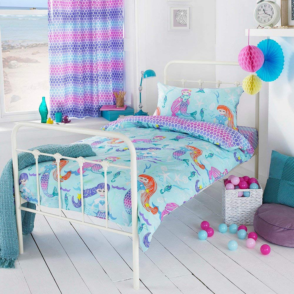 Riva Paoletti Kids Mermaid Single Duvet Cover