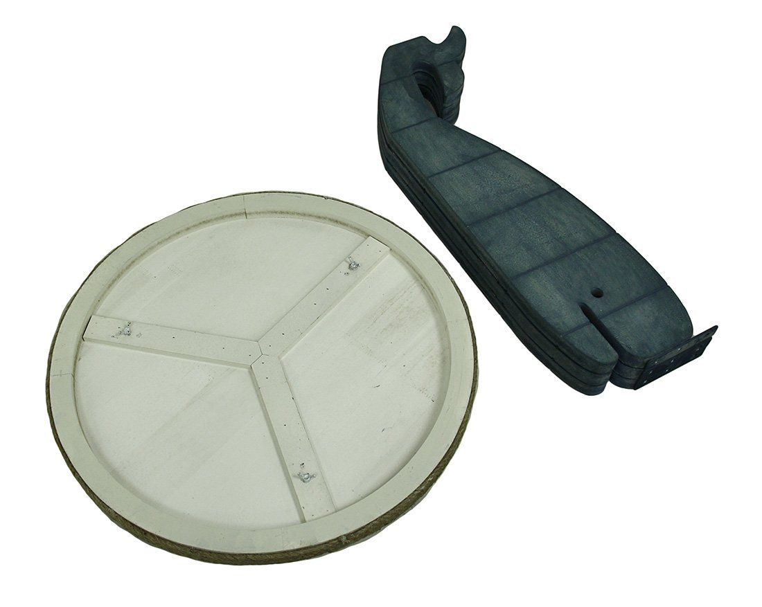 Triple Whale Round Wooden Table