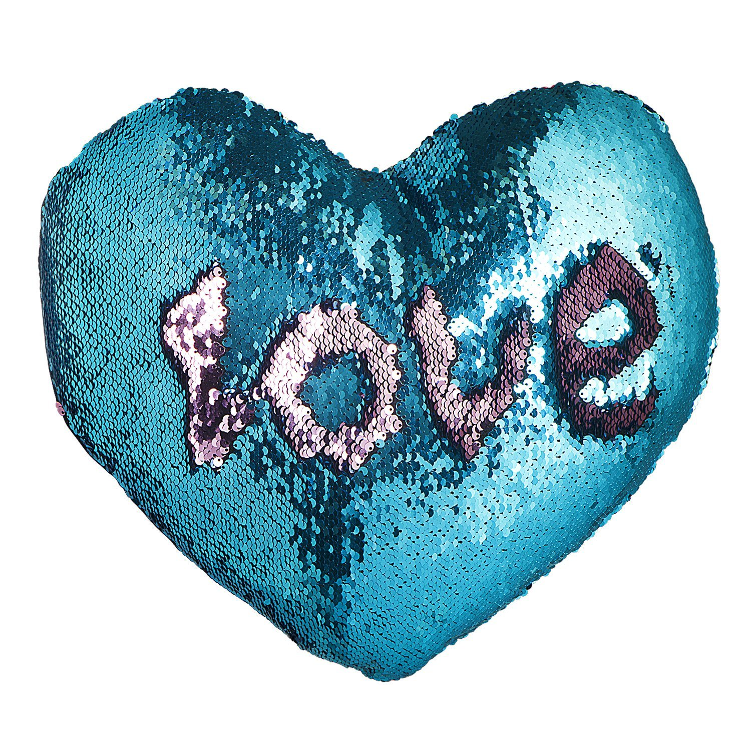 U-miss Mermaid Scale Heart Cushion
