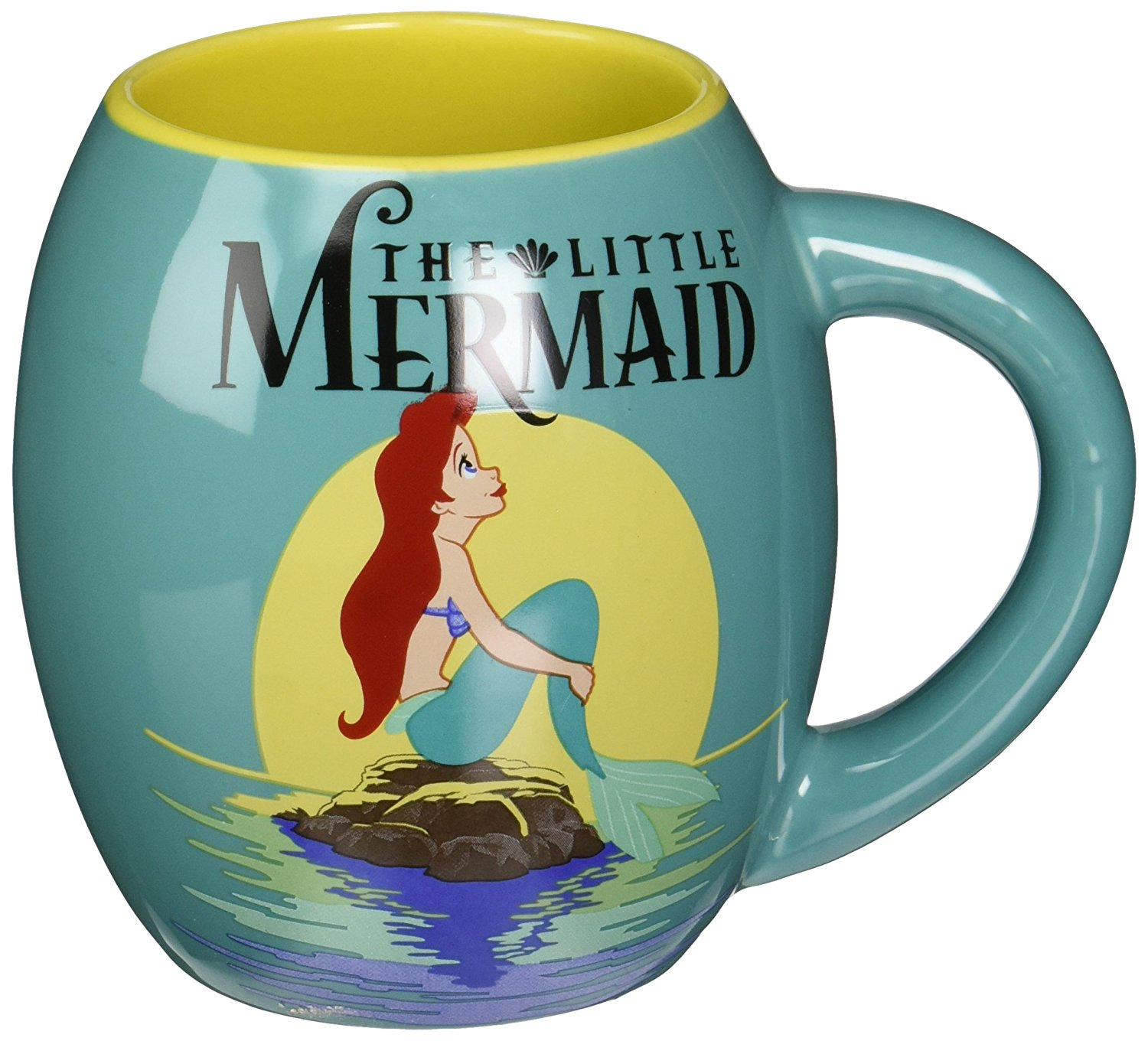 curved little mermaid mug