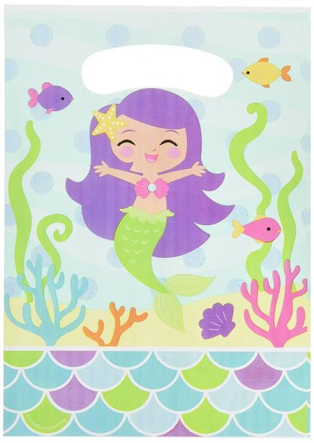 mermaid party thank you bag