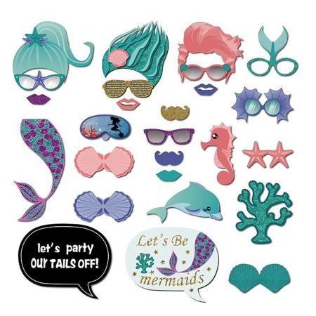 mermaid party photo booth props