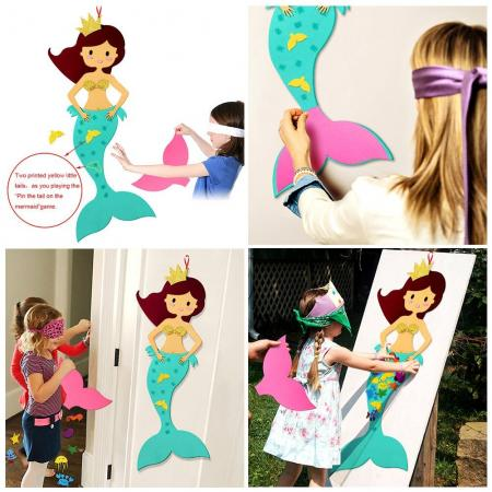 mermaid party pin tail