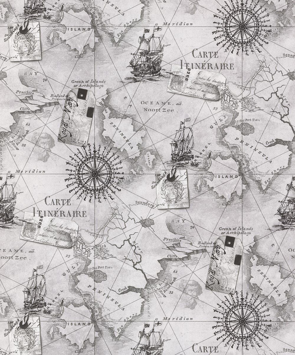vintage cartography nautical atlas map wallpaper