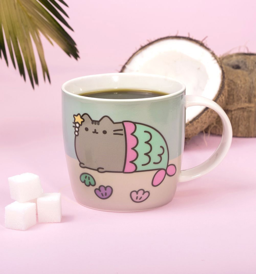 pusheen mermaid colour change mug