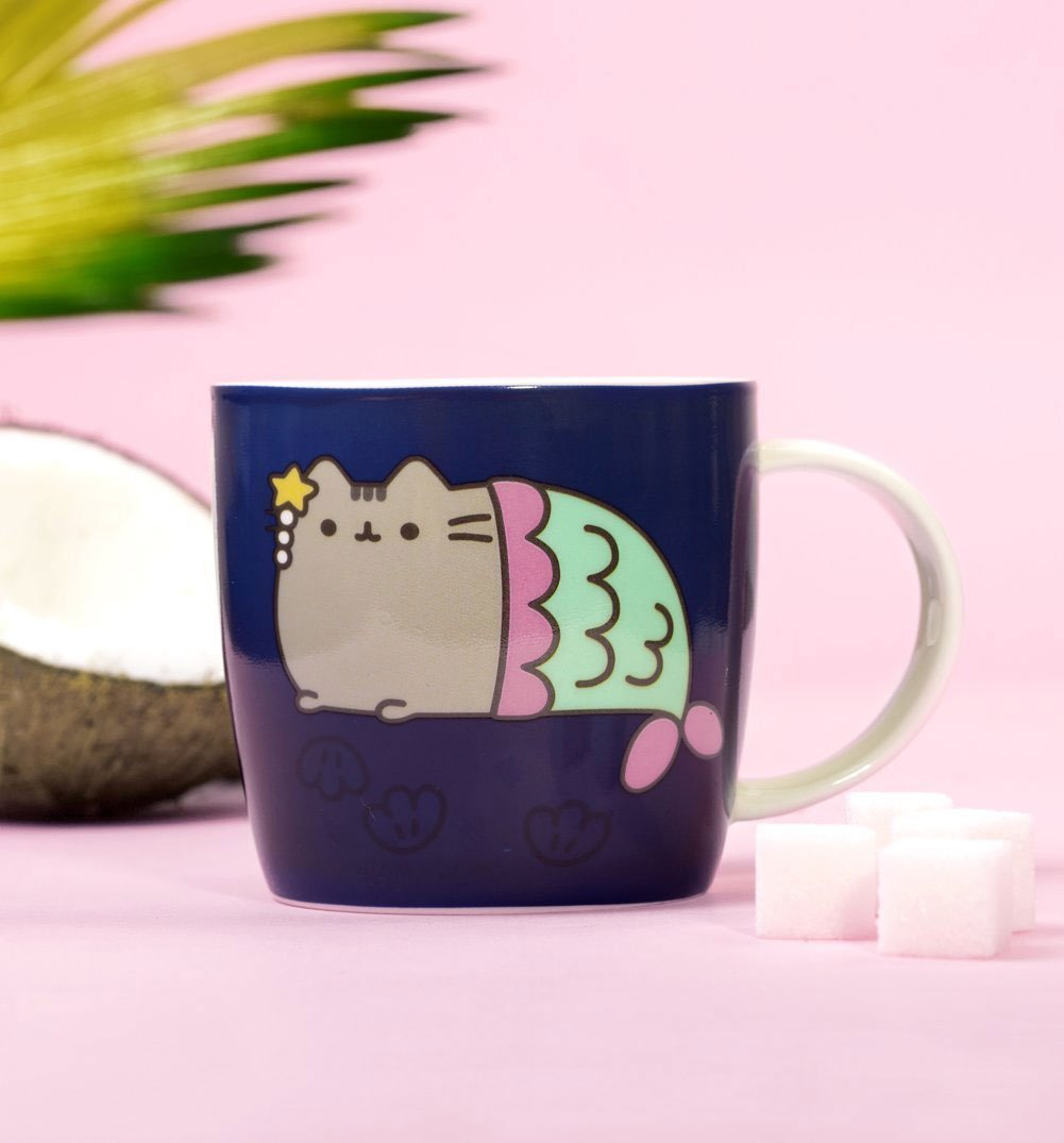 pusheen mermaid colour changing