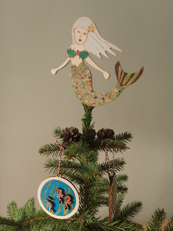 mermaid christmas tree topper