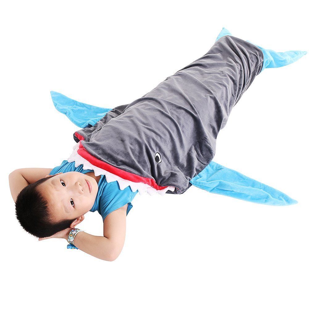 shark blanket young boy