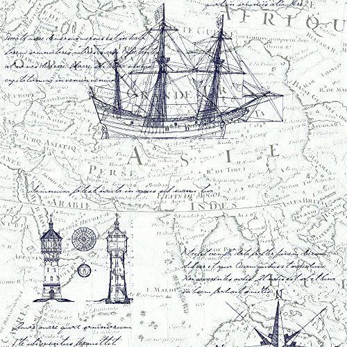 vintage nautical atlast map wallpaper