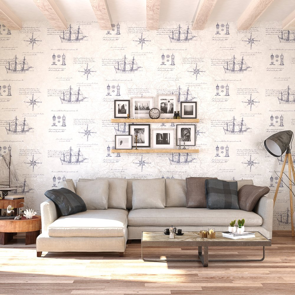 vintage nautical atlas map wallpaper