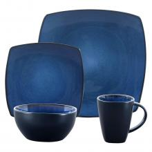 Gibson Bella Soho 16-Piece Square Reactive Glaze Dinnerware Set