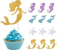 Haley Party Mermaid Cake Toppers