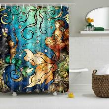 mermaid sea shower curtain