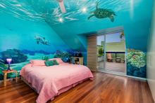 sea ocean mermaid inspired bedroom