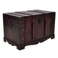 wooden treasure chest box